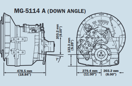 Plan Twin Disc MG5114A