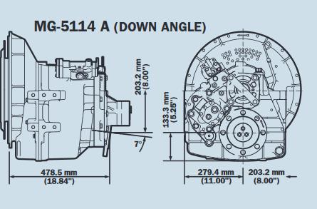 Plan Twin Disc MG5114A