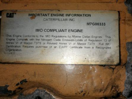 Pieces detachees moteur marin caterpillar C7